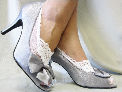 049eb4b26ec0c ENCHANTING LACE in White,Lace socks for heels white lace great for bri dal  wedding