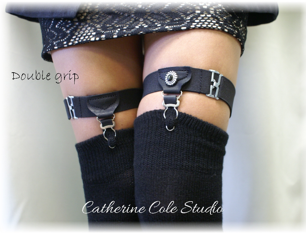 a3600513114 Sock Garters Thigh high Garters   DOUBLE Grip   Made in USA steampunk  garters A timeless