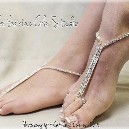 a2f04dcd4b82 ... GLAMOROUS rhinestone shoe jewelry Barefoot sandals wedding shoes bridal  bridesmaid prom beach wedding foot Jewelry Catherine ...