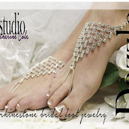 67d759489419b8 ... DAZZLING BRIDE rhinestone silver Barefoot sandals wedding shoes bridal  bridesmaid beach wedding Shoe foot Jewelry Catherine ...