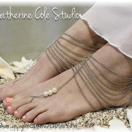 9a763197bdb98e ENCHANTMENT Barefoot Sandals Metal Womens Anklets Beach Weddings ...